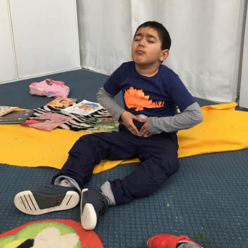 Child learning about meditation and mindfulness